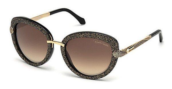 Roberto Cavalli Damen Sonnenbrille » RC830S« in 05B - schwarz/grau