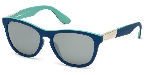 Diesel Herren Sonnenbrille » DL0185« in 92C - blau/grau