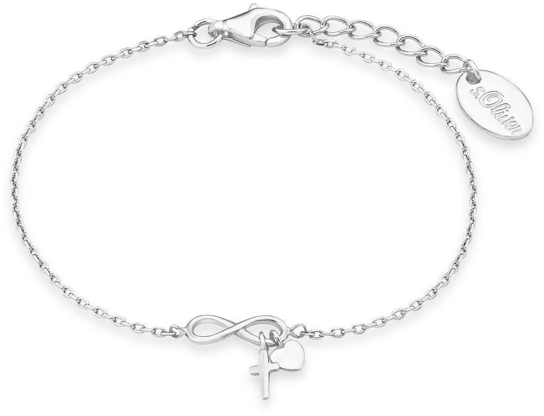 s.Oliver Junior Armband mit Herz und Kreuz, »Unendlichkeitssymbol, 9235506«