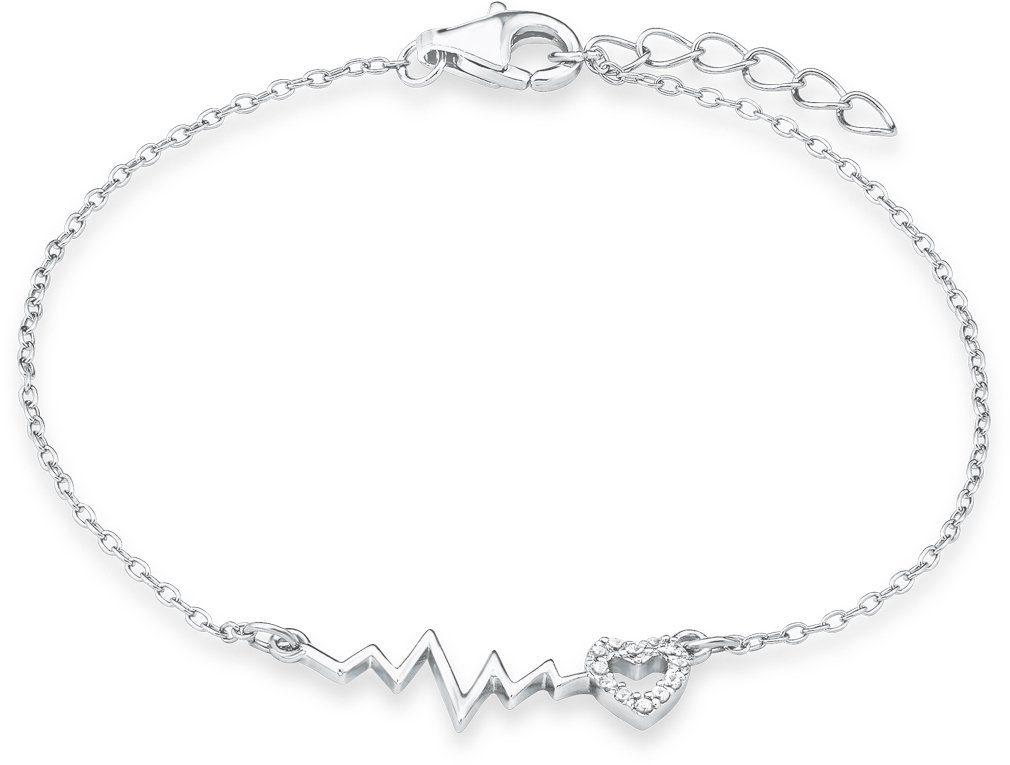 s.Oliver Junior Armband mit Zirkonia, »Pulslinie mit Herz, SOK237/1«
