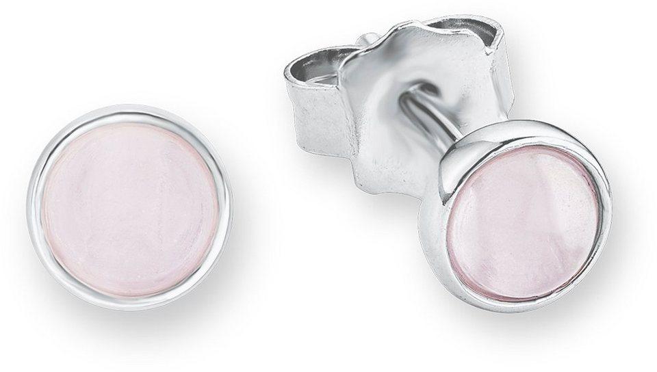 s.Oliver Junior Paar Ohrstecker mit Glassteinen, »SOK230/1« in Silber 925-rosa