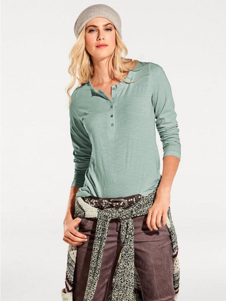 Rundhalsshirt in mint