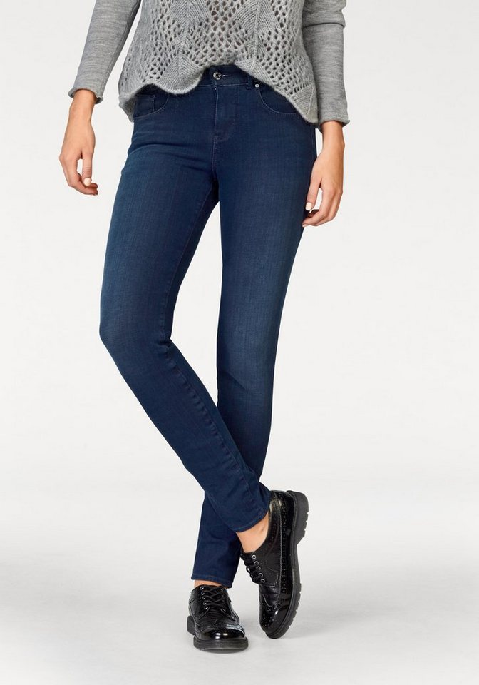 MAC Skinny-fit-Jeans »Skinny Pure« Pure 5Pocket Form in blue