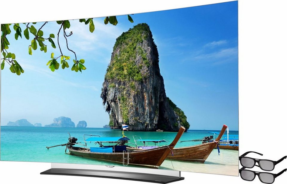 LG OLED65C6D, Curved-OLED-Fernseher, 164 cm (65 Zoll), 2160p (4K Ultra HD), Smart-TV in schwarz