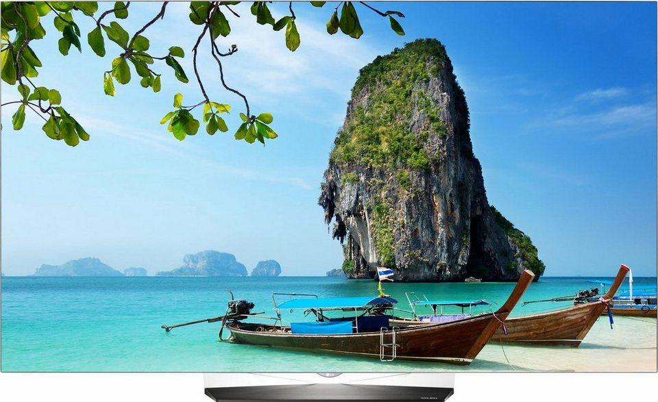 LG OLED 55B6D, OLED Fernseher, 139 cm (55 Zoll), 2160p (4K Ultra HD), Smart-TV in silberfarben