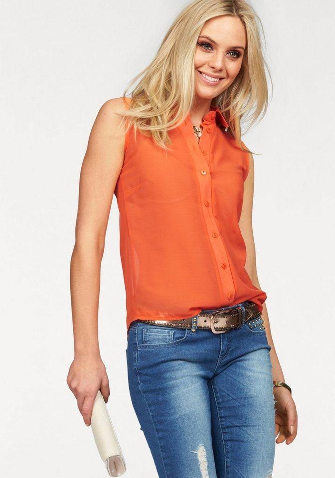Melrose Chiffonbluse in leuchtender Trendfarbe in orange