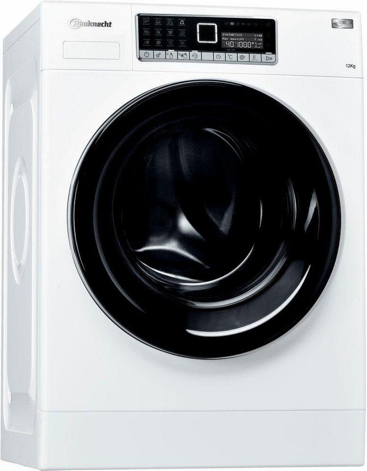 BAUKNECHT Waschmaschine WM Style 1224 ZEN, A+++, 12 kg, 1400 U/Min in weiß