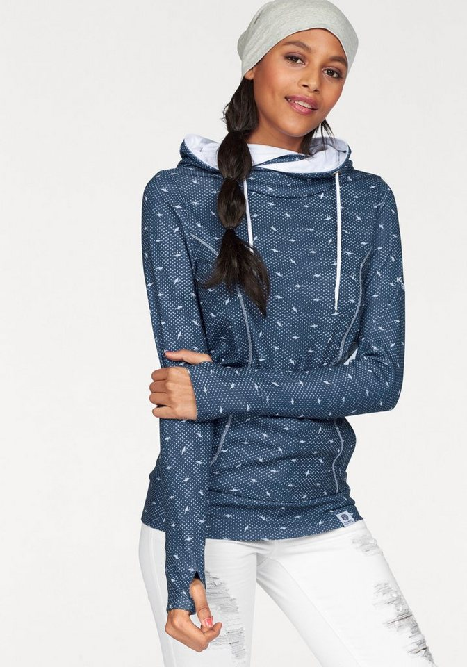 KangaROOS Kapuzensweatshirt im trendigen Allover-Print in marine