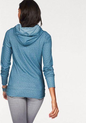 KangaROOS Kapuzensweatshirt, im trendigen Allover-Print