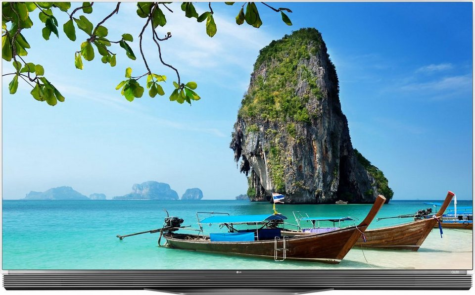 LG OLED65E6D, OLED Fernseher, 164 cm (65 Zoll), 2160p (4K Ultra HD), Smart-TV in schwarz