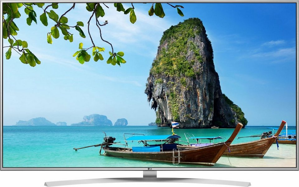 LG 55UH7709, LED Fernseher, 139 cm (55 Zoll), 2160p (4K Ultra HD), Smart-TV in silberfarben