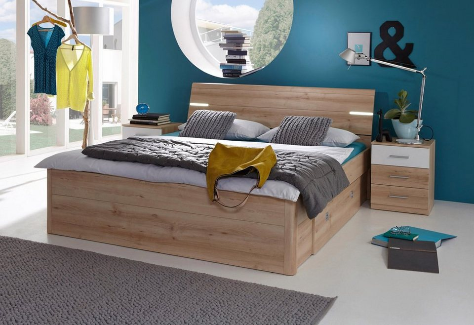 Bett, inkl. 2 Nachttische und 2 Schubkästen kaufen | OTTO