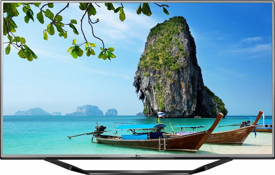 LG 65UH625V, LED Fernseher, 164 cm (65 Zoll), 2160p (4K Ultra HD), Smart-TV in silberfarben/schwarz