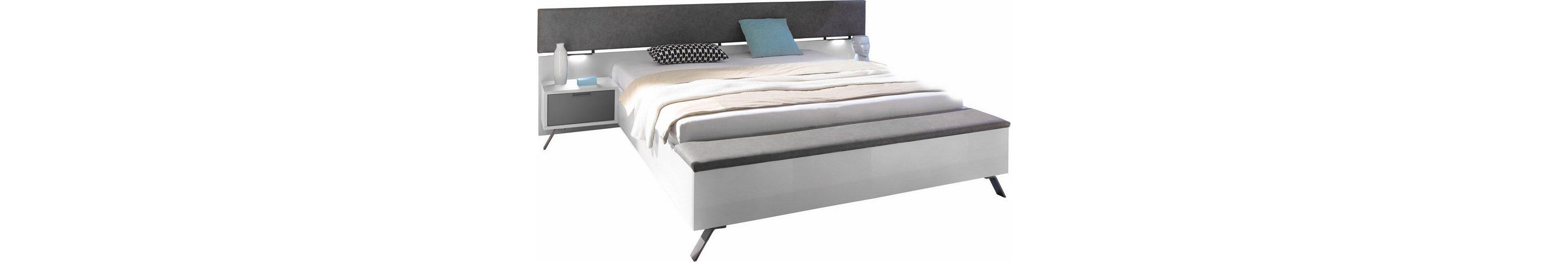 LC Bett mit integrierter Fußbank