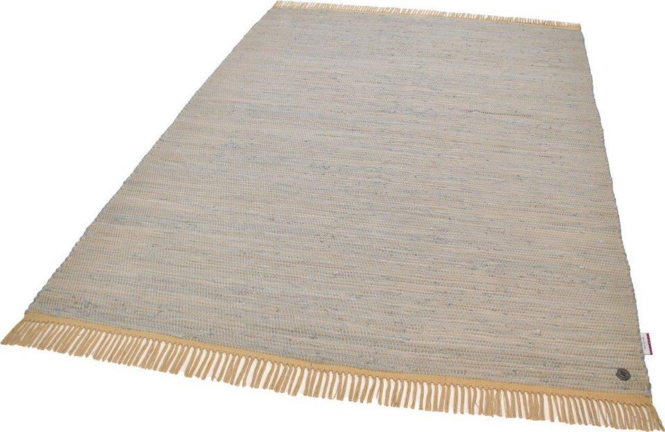 Teppich, Tom Tailor, »Cotton Colors«, handgearbeitet in grau