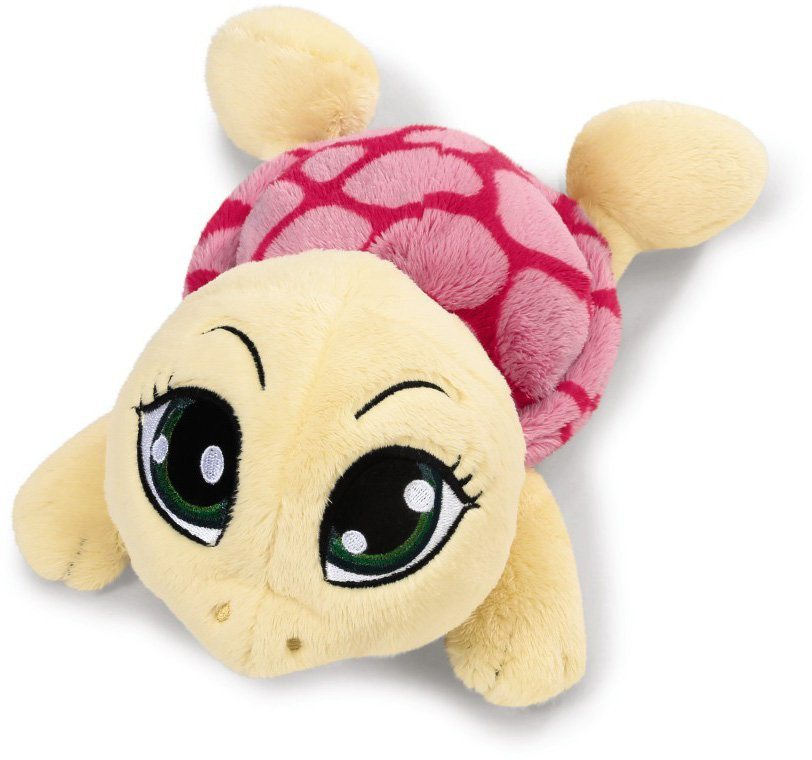 NICI Plüschtier liegend, 50 cm, »Sweethearts Schildkröte gelb« in rosa/ pink