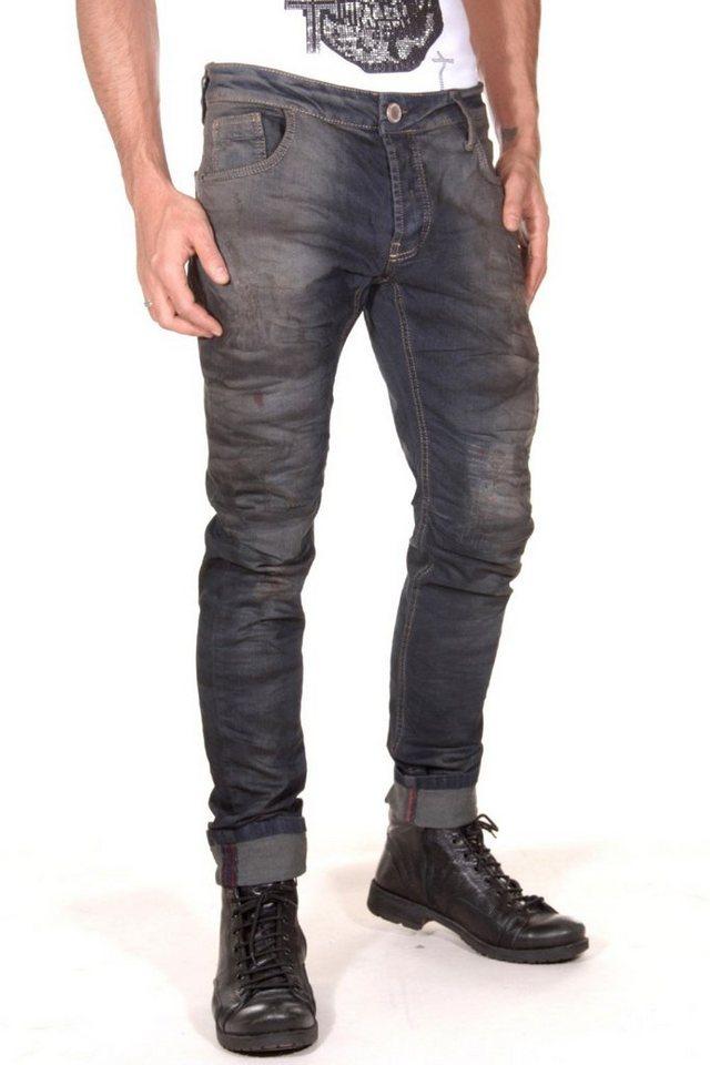 KINGZ Jeans in blau