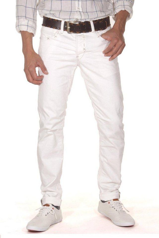 KINGZ Jeans in weiss