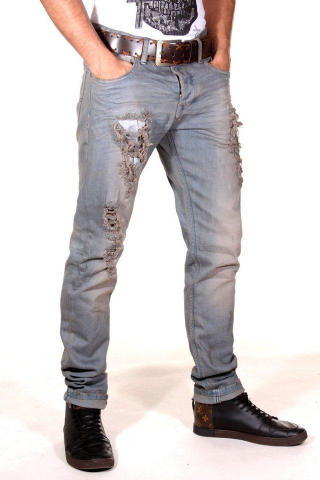 KINGZ Jeans in grau
