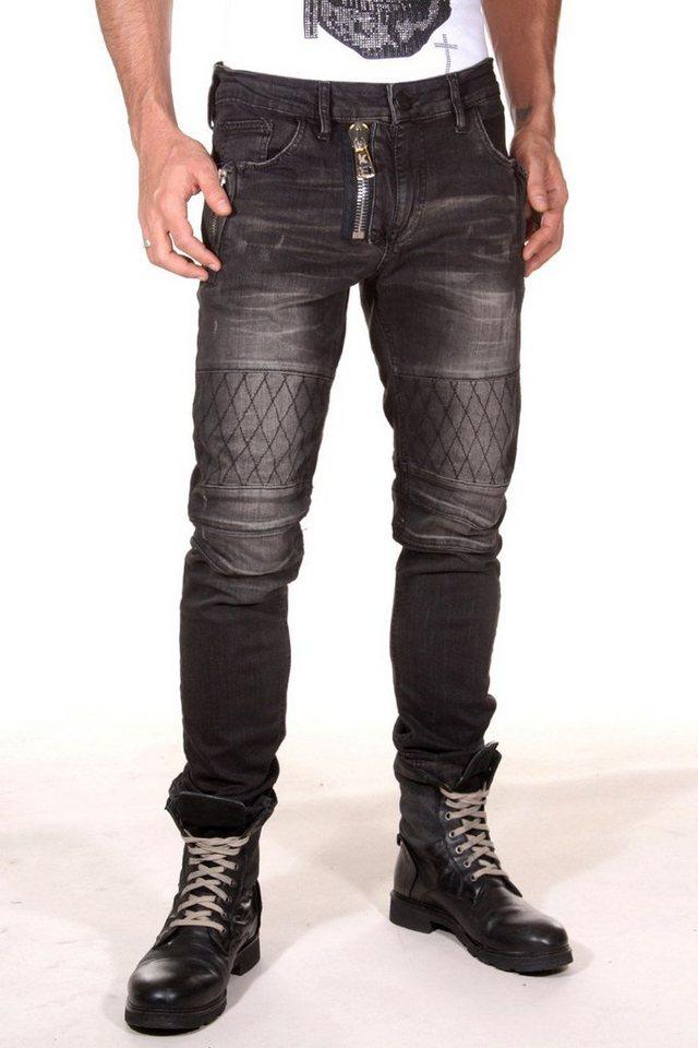 KINGZ Jeans in schwarz
