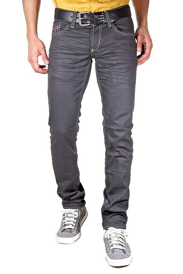 KINGZ Jeans in dunkelgrau