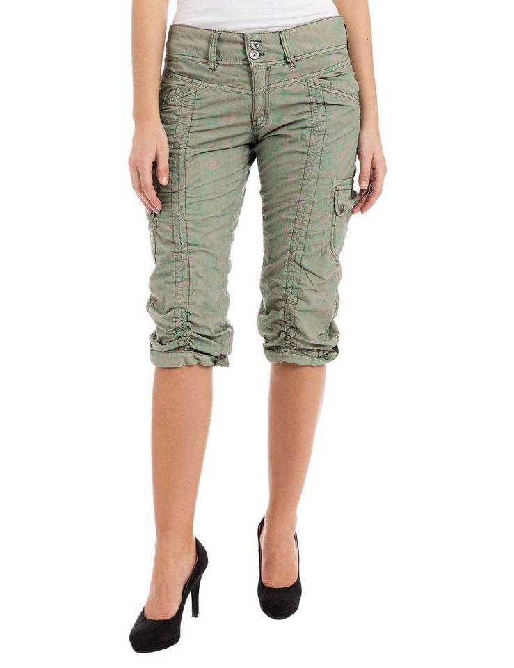TIMEZONE Hosen kurz »HolidayTZ 3/4 pants« in army green bloom