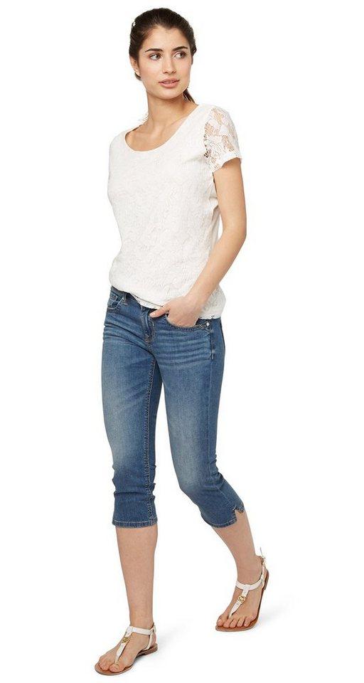 TOM TAILOR Jeans »sommerliche Capri-Jeans« in stone wash denim