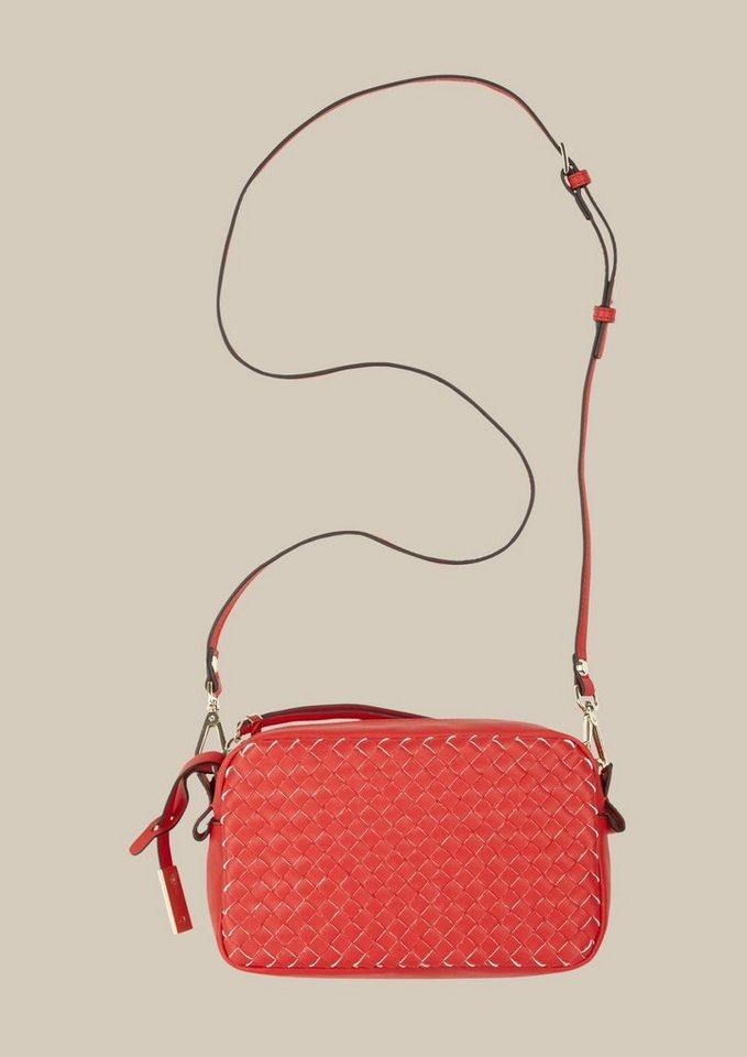 COMMA Elegante Abendtasche in Flechtoptik in red