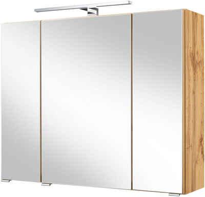 HELD MÖBEL Spiegelschrank »Malibu« Breite 80 cm, mit Spiegeltüren und Türendämpfern