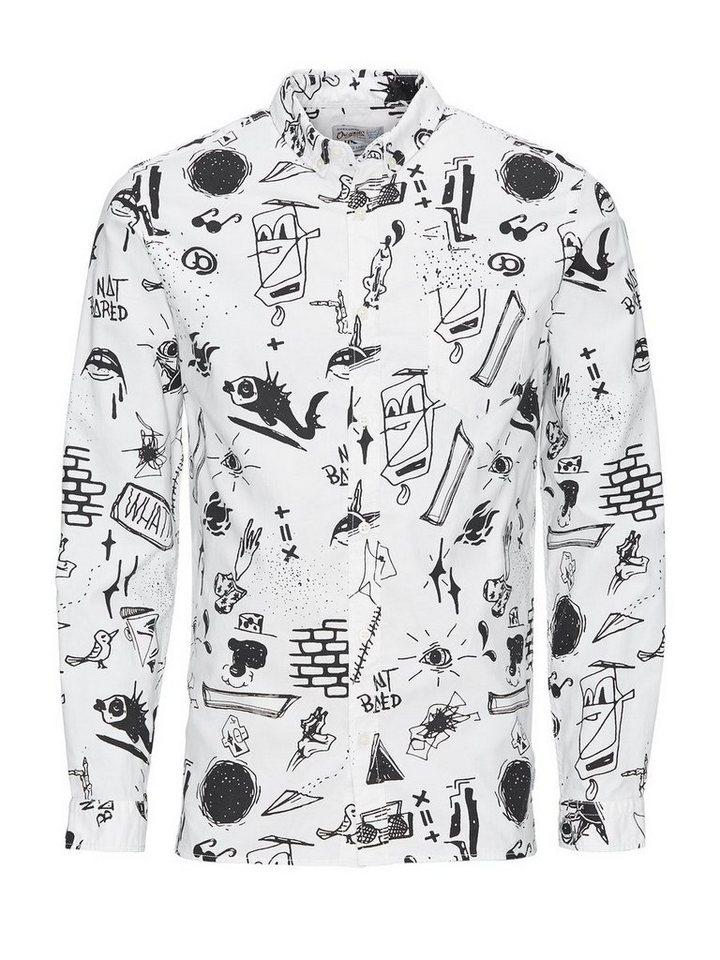 Jack & Jones Krakelei- Freizeithemd in White
