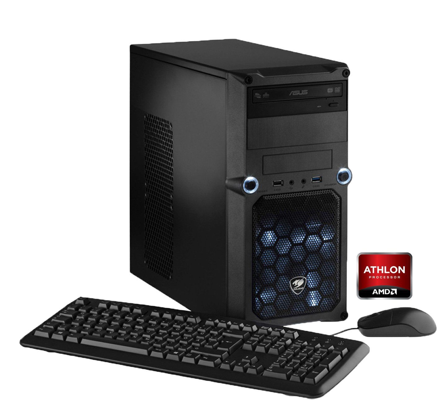 Hyrican Gaming PC AMD X4 880K, 16GB, 1TB, 120 SSD, GTX 950, Windows 10 »CyberGamer 5104«