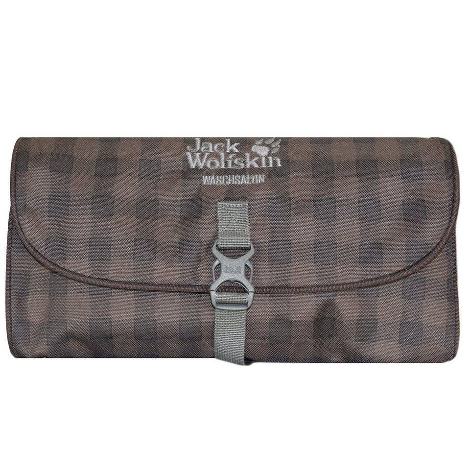 Jack Wolfskin Travel Accessories Waschsalon 15 Kulturtasche 32 cm in mocca classic check