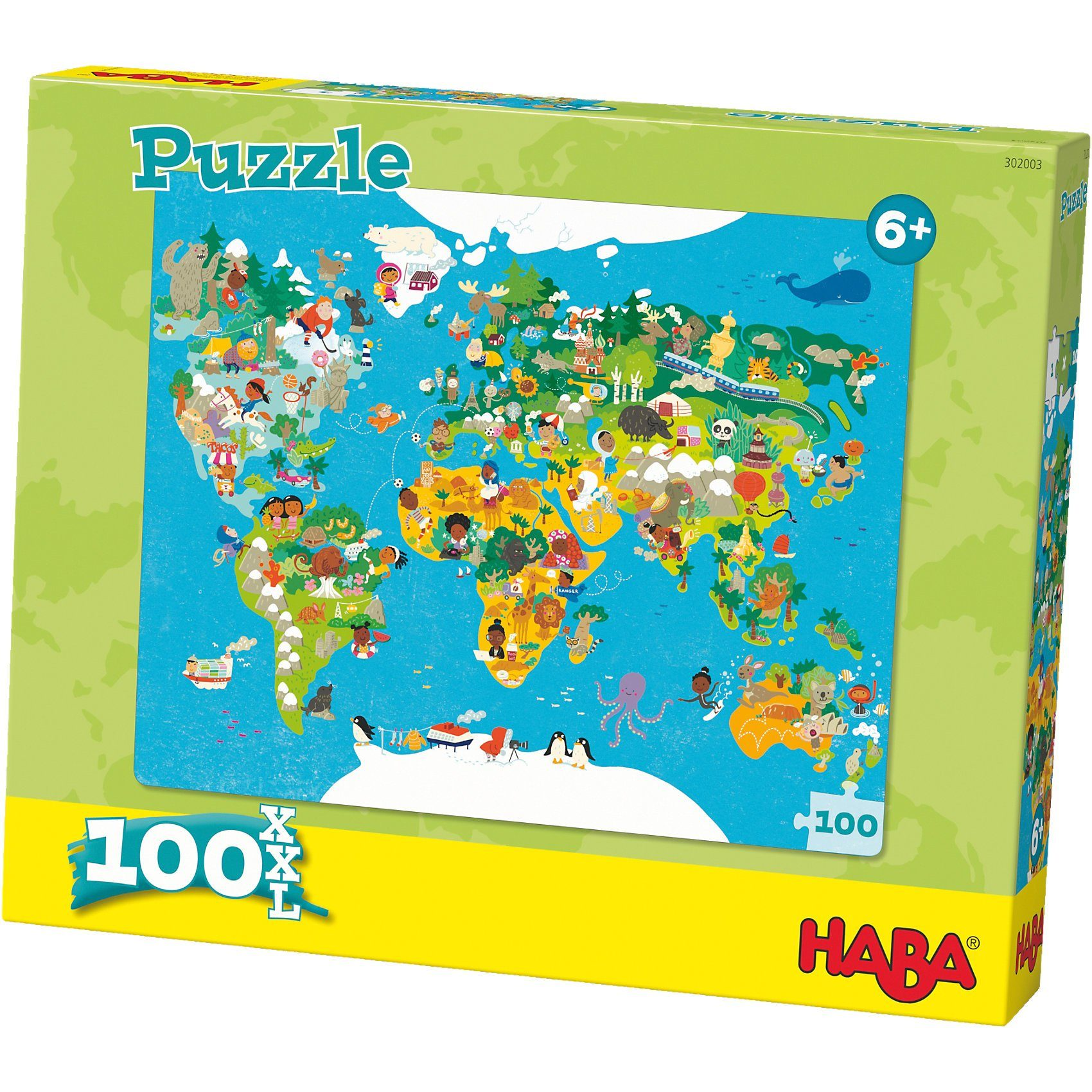 Haba Puzzle 100 XL Teile - Weltkarte