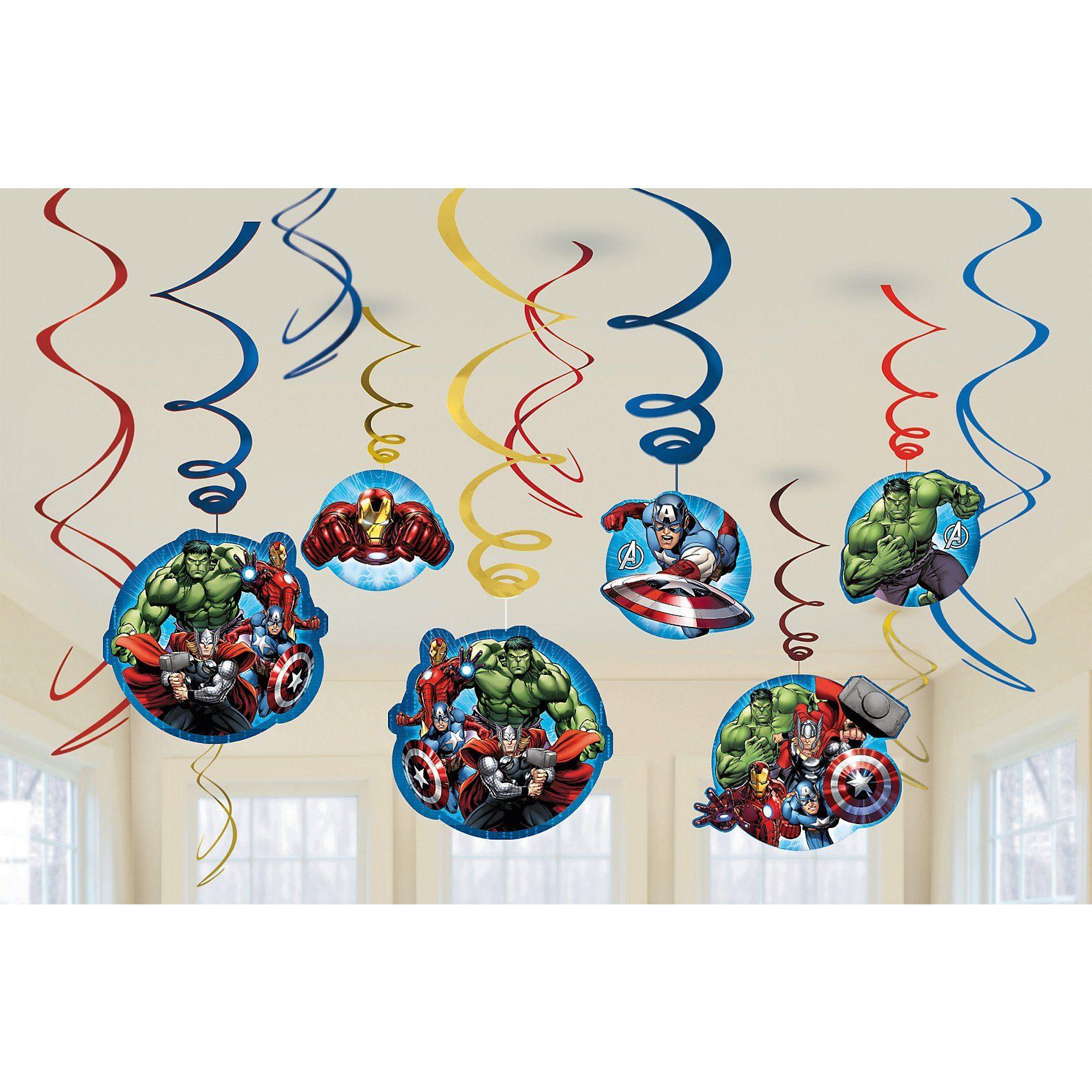Amscan Spiralen Deko Avengers, 12 Stück