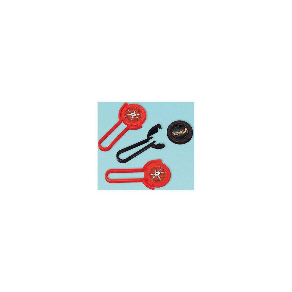 Amscan Mitgebsel Mini Disk Werfer Ninja, 12 Stück