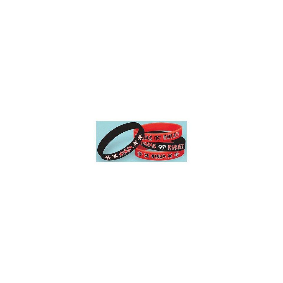 Amscan Mitgebsel Armbänder Ninja, 4 Stück