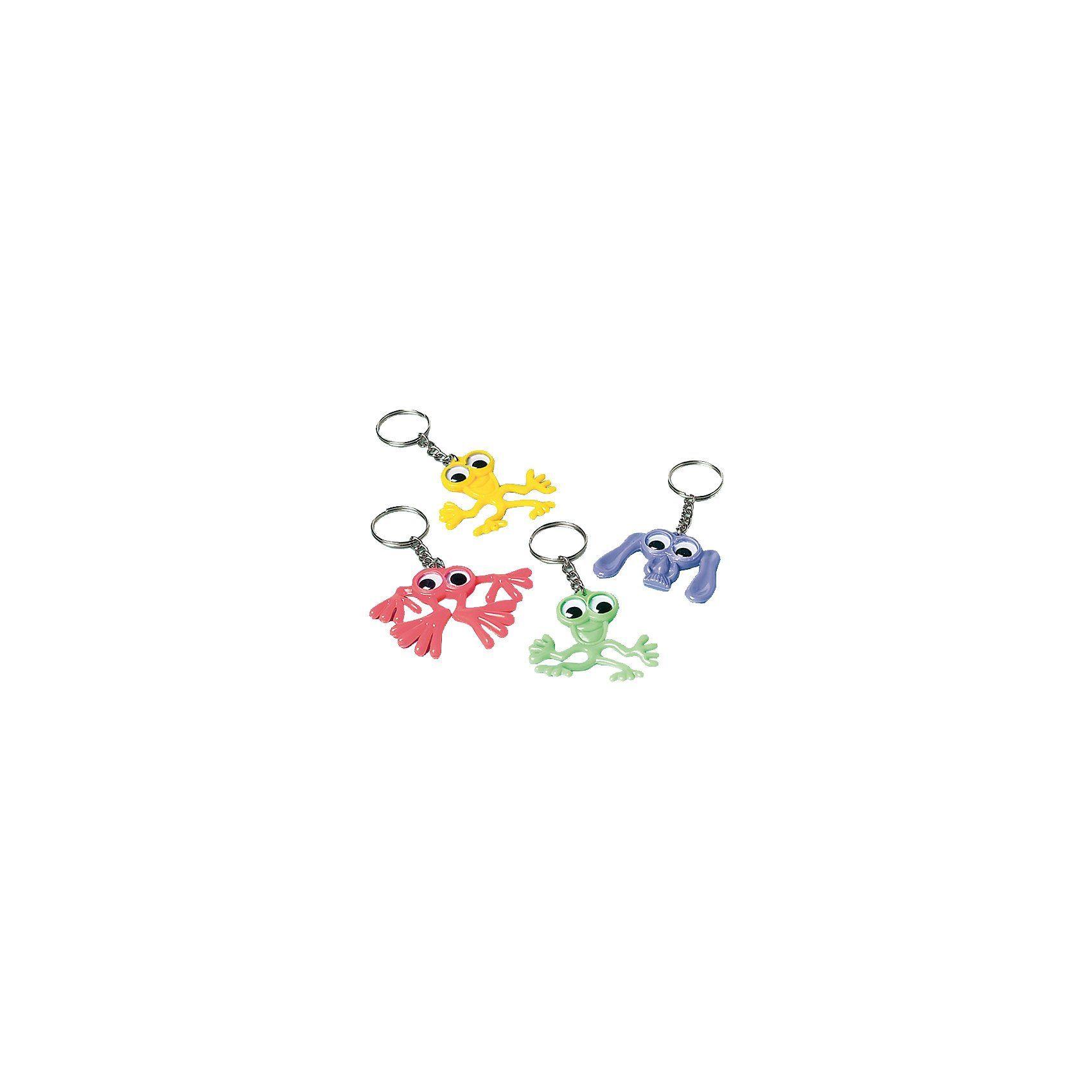 Amscan Mitgebsel Schlüsselanhänger lustige Tiere, 4 Stück