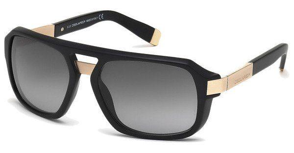Dsquared2 Herren Sonnenbrille » DQ0028«, schwarz, 02B - schwarz/grau