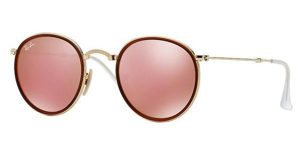 RAY-BAN Sonnenbrille »ROUND RB3517« in 001/Z2 - gold/rosa