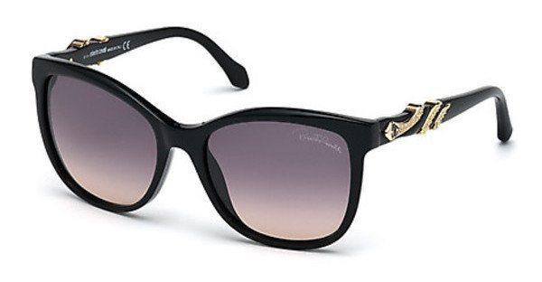 Roberto Cavalli Damen Sonnenbrille » RC877S« in 01B - schwarz/grau