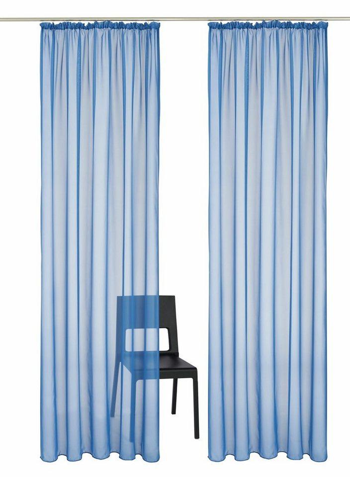 Gardine, my home, »Xanten«, mit Kräuselband (2 Stück) in blau