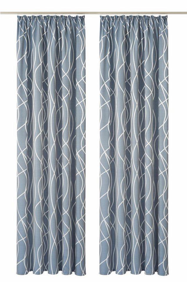 Vorhang, Home affaire Collection, »Argos« (2 Stück) in blau