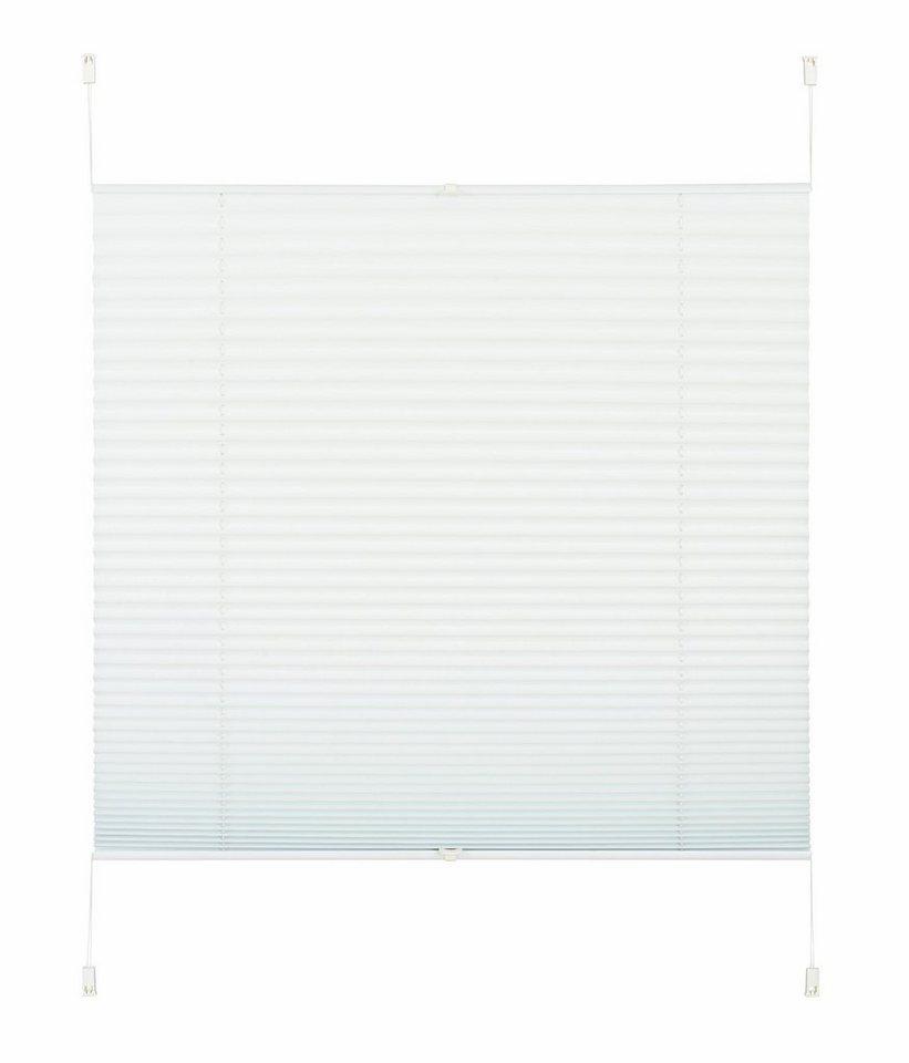 Jalousie, my home Selection, »Antilla«, Fixmaß Plissee, Faltenstore, Verdunkelnd, Fixmaß, ohne Bohre in weiß