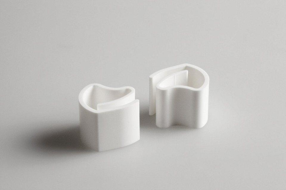 Klemmträger, Lichtblick, »Klemmfix Klick«, für Jalousie (2 Stück) in weiß