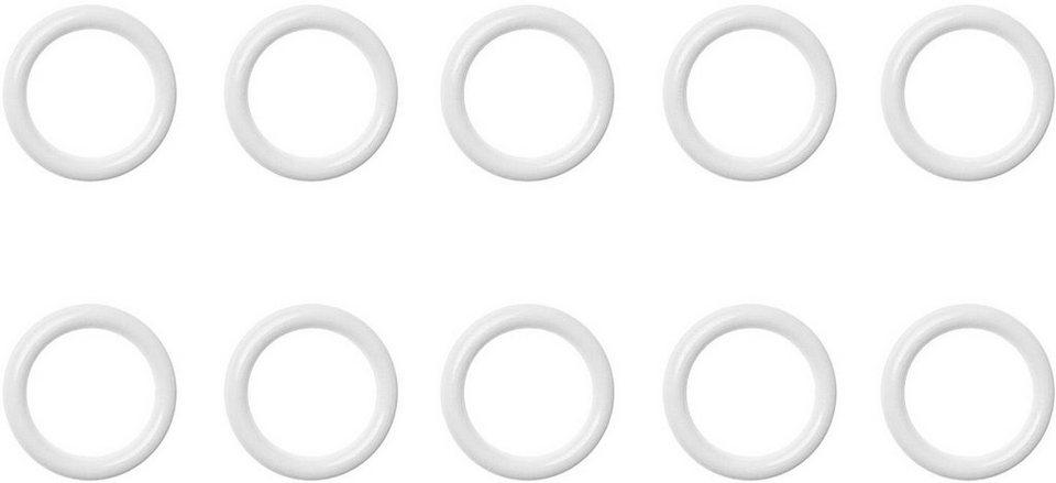 Gardinenring, Lichtblick, »Cafehausstange«, ø 13 mm (10 Stück) in weiß