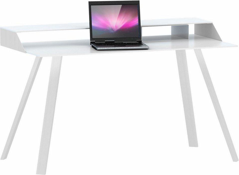 Jahnke Schreibtisch »Smart Work« in Aluminium/Weißglas