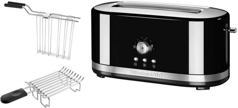 KitchenAid® manueller Langschlitztoaster 5KMT4116EOB, onxy schwarz in onxy schwarz