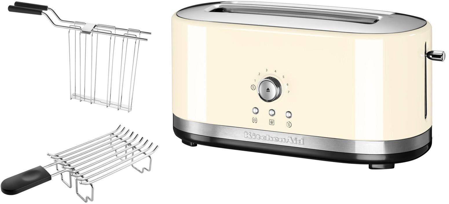 KitchenAid manueller Langschlitztoaster 5KMT4116EAC, crème