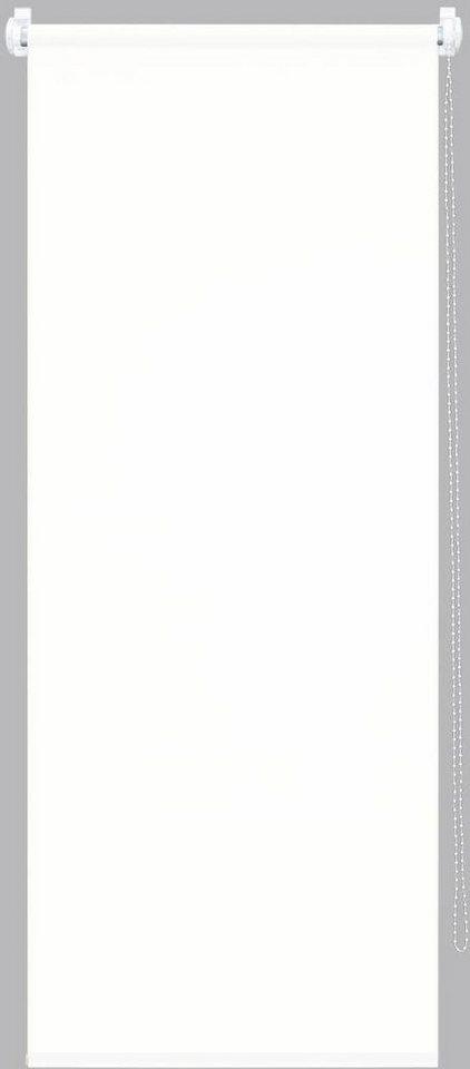Seitenzugrollo, good Life, »Alicia«, Lichtschutz, Fixmaß, ohne Bohren in weiß