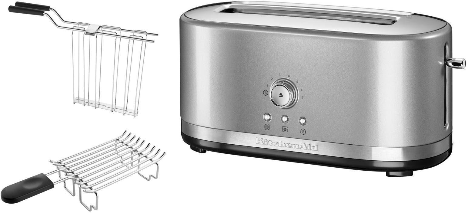 KitchenAid® manueller Langschlitztoaster 5KMT4116ECU, contur-silber